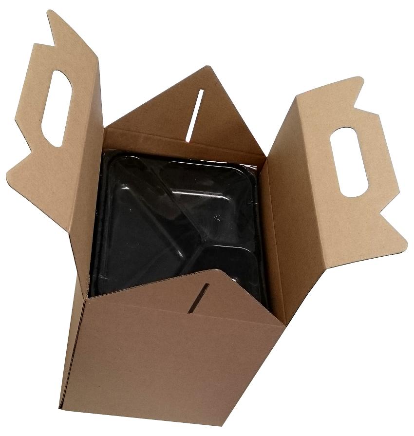 Pudelko Z Uchwytem Dieta Box Na Pojemniki Obiadowe 190x230x230 305mm Opakowanie 50szt