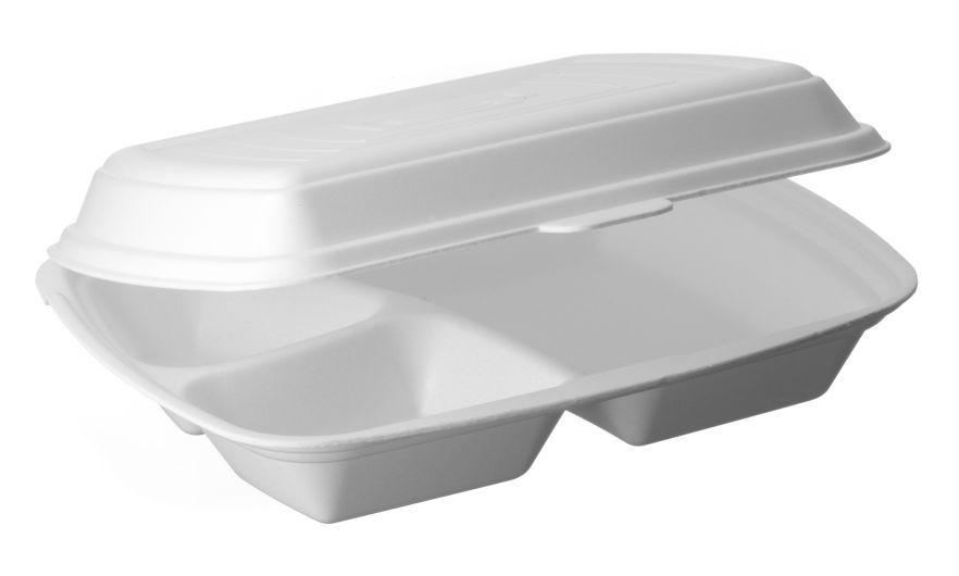 Modne ubrania Pojemnik obiadowy styropianowy menubox, lunchbox III-dzielny Pack KJ13