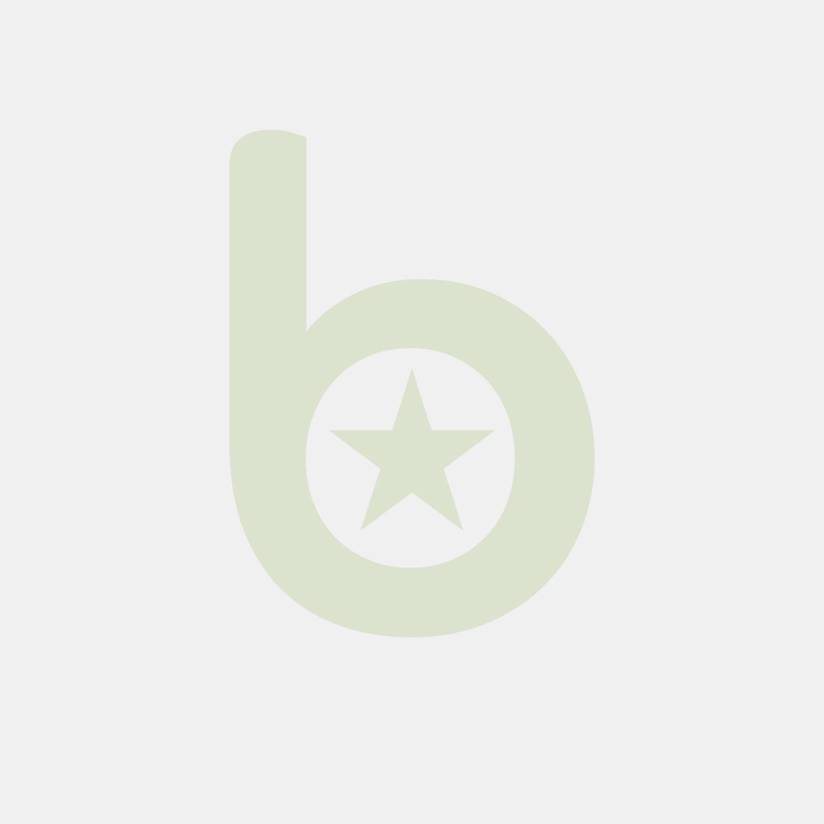 Rożek na FRYTKI, NUGGETSY, CHURROSSY 500g średni Kratka Czarna z miejscem na DIP 200/290mm op. 100 sztuk
