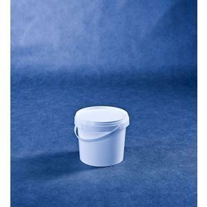 Wiaderko 1l białe z plombą, cena za opakowanie 50 szt.