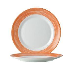 Talerz płytki Linia Brush  pomarańczowy ø235x(H)26 -kod 49120