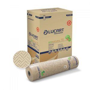 Podkłady medyczne EcoNatural 70 LUCART 70m, 2W, 590x370mm op. 6 rolek