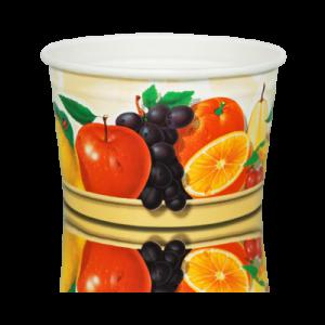 Papierowe kubki do lodów 245ml, nadruk owoce, opakowanie 160szt