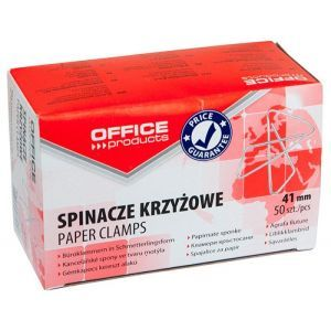 Spinacze krzyżowe OFFICE PRODUCTS, 41mm, 50szt., srebrne