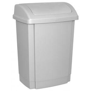 Kosz na śmieci z pokrywą OFFICE PRODUCTS, tworzywo, 25l, szary