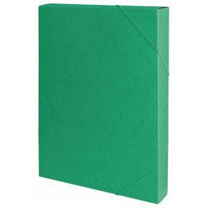 Teczka z gumką przestrz. OFFICE PRODUCTS, preszpan, A4/40, 450gsm, zielona