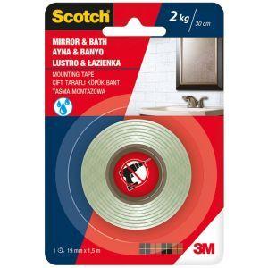 Taśma montażowa SCOTCH®, łazienka, 19mm x 1,5m, biała