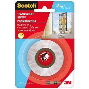Taśma montażowa SCOTCH®, estetyczna, 19mm x 1,5m, transparentna