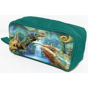 Piórnik-kosmetyczka DONAU Chameleon, bez wyposażenia, 20x8x5,5cm, zielony