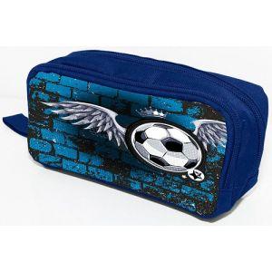 Piórnik-kosmetyczka DONAU Soccer Style, bez wyposażenia, 20x8x5,5cm, niebieski