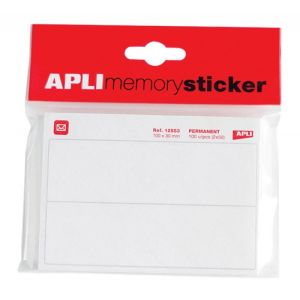 Etykiety pocztowe APLI, w bloczku, 100x30mm, 50 ark., białe