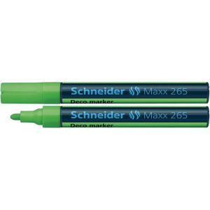 Marker kredowy SCHNEIDER Maxx 265 Deco, okrągły, 2-3mm, zawieszka, jasnozielony