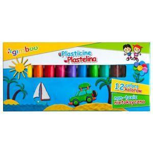 Plastelina GIMBOO, 12szt., mix kolorów