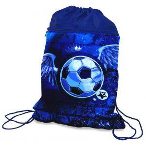 Worek szkolny DONAU Soccer Style, 42x32cm, niebieski