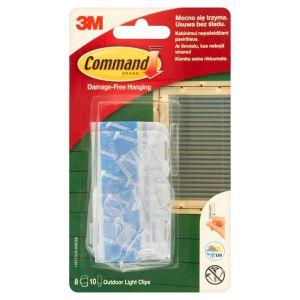Klipsy do wieszania lampek COMMAND™ Outdoor (17017CLR-AWCEE), 8szt., transparentne