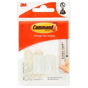 Hak wielokrotnego użytku COMMAND™ Basic (17502DB-CEE), z metalowym uchwytem, mały, biały