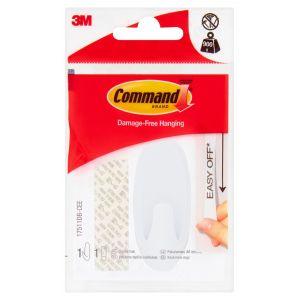 Hak wielokrotnego użytku COMMAND™ Basic (17511DB-CEE HAK), z metalowym uchwytem, średni, biały