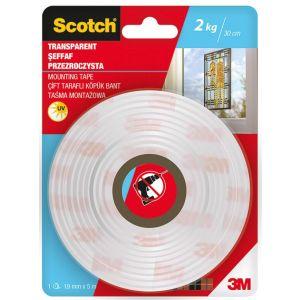 Taśma montażowa SCOTCH®, estetyczna, 19mm x 5m, transparentna