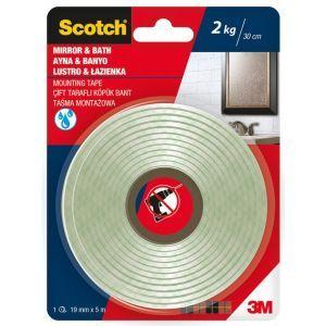 Taśma montażowa SCOTCH®, łazienka, 19mm x 5m, biała