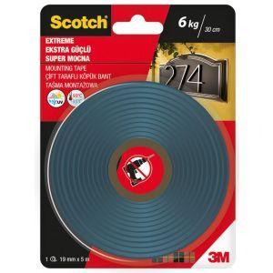 Taśma montażowa SCOTCH®, super mocna, 19mm x 5m, czarna