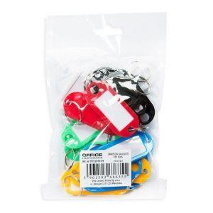 Zawieszki na klucze OFFICE PRODUCTS, 50x20cm, 20szt., mix kolorów