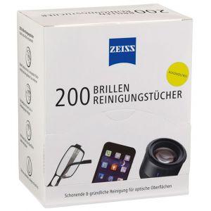 Chusteczki do czyszczenia okularów i wyświetlaczy ZEISS, 200 szt., białe