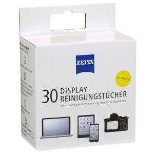 Chusteczki do czyszczenia ekranów, tabletów i laptopów ZEISS, 30 szt., białe