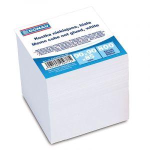 Kostka DONAU nieklejona, 90x90x90mm, ok. 800 kart., biała