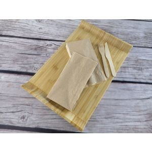 Serwetka 40x40 2W 1/8 brązowy, natural ECO recykling op. 250 sztuk