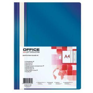 Skoroszyt OFFICE PRODUCTS, PP, A4, miękki, 100/170mikr., granatowy