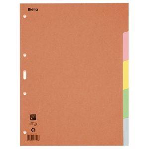 Przekładki kartonowe, A4, 1-5 kart., mix kolorów