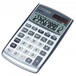 Office calculator CITIZEN CDC-100 WB, 12 digits, 135x108mm, gray