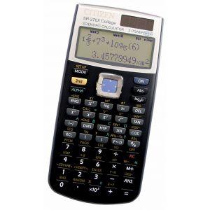 Kalkulator naukowy CITIZEN SR-270XCFS, 10+2-cyfrowy, 164x84mm, czarny