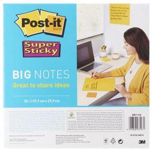 POST-IT® Super Sticky Big Notes pad (BN11 -EU), 280x280mm,1x30 sheets, yellow