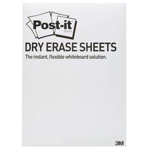 Suchościeralna folia w arkuszach POST-IT® Dry Erase (DEFPACKL-EU), 28x39cm, 15ark., białe