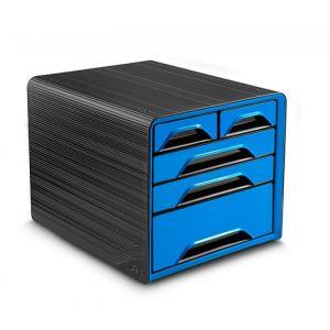 Zestaw 5 szufladek CEP Smoove, czarny/niebieski
