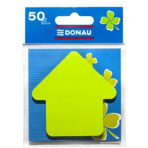 Bloczek samoprzylepny DONAU, 1x50 kart., strzałka, zawieszka, zielony