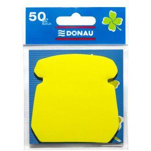 Bloczek samoprzylepny DONAU, 1x50 kart., telefon, zawieszka, żółty