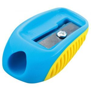 Pencil sharpener KEYROAD Nugget, plastic, single, tube, color mix