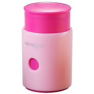 Pencil sharpener KEYROAD Pumpy, plastic, single, with container, display packing, color mix