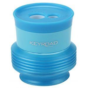 Temperówka KEYROAD Stretchy, plastikowa, podwójna, z pojemnikiem, pakowane na displayu, mix kolrów