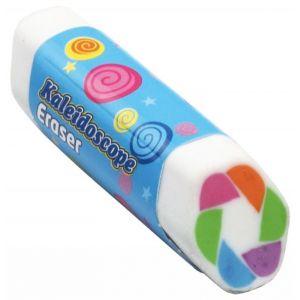 Gumka uniwersalna KEYROAD Kaleidoscope, heksagonalna, pakowane na displayu, mix kolorów