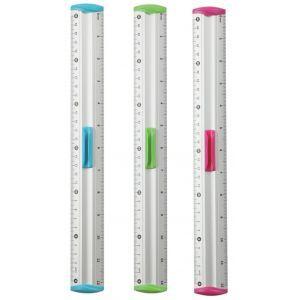 Linijka z uchwytem KEYROAD Measure Clip, 30 cm, pakowane w display, mix kolorów