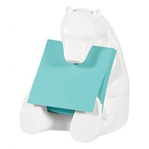 Podajnik do bloczków samoprzylepnych POST-IT® Miś (Bear-330), biały, w zestawie 1 bloczek Super Sticky Z-Notes