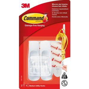Haczyki wielokrotnego użytku COMMAND™ (17001 PL), średnie