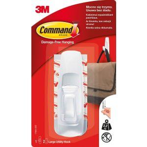 Hak wielokrotnego użytku COMMAND™ (17003 PL), duży, biały