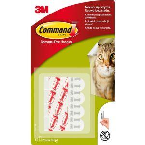 Paski wymienne do haczyków wielokrotnego użytku COMMAND™ (17024 PL), 12 szt.
