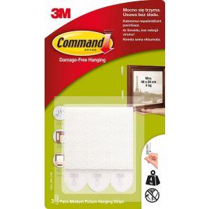 Rzepy Command™ (17201 PL), do wieszania obrazów, duże, 3 szt., białe