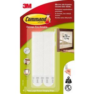 Rzepy COMMAND™ (17206 PL), do wieszania obrazów, duże, 2 szt., białe