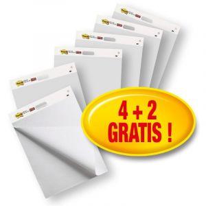 Samoprzylepne Arkusze Konferencyjne POST-IT® Super Sticky, na flipchart, 63,5x77,5cm, 4x30 kart.. 2 bloki GRATIS